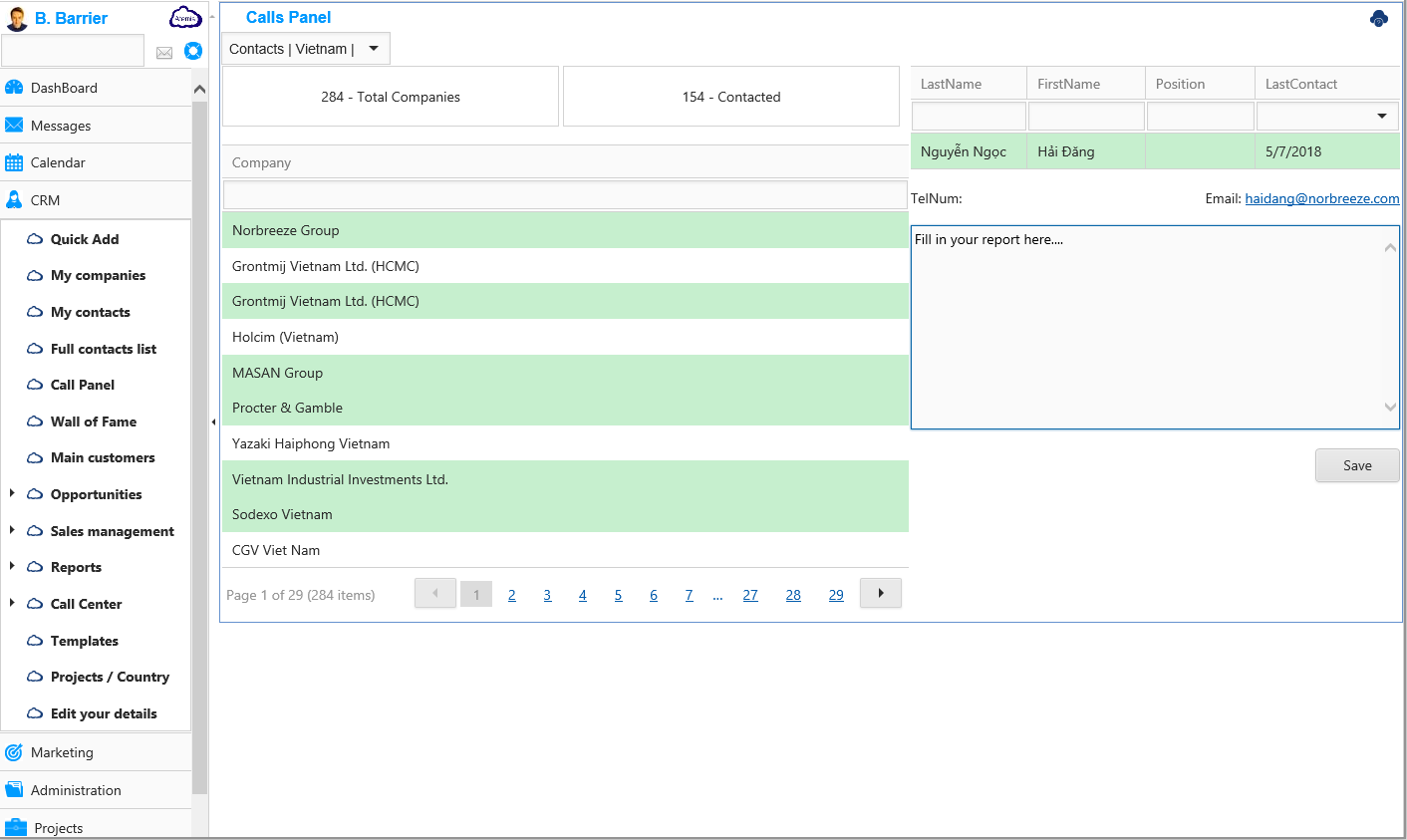 AtemisCloud | 1.CRM | Call Center | Call Panel