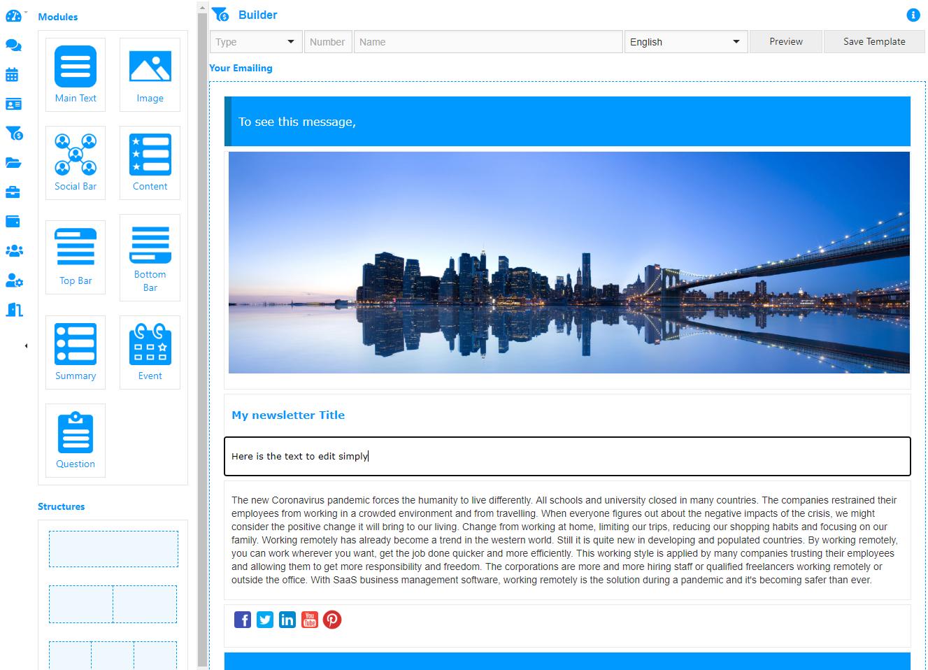 AtemisCloud | 2.Marketing | Emailing | Builder